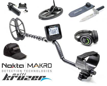 Металлоискатель Nokta Makro Multi-Kruzer  (катушка KR24, дополнительный батарейный бокс, нож-совок и фирменная бейсболка)