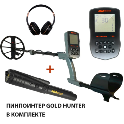 "Металлоискатель Gold Hunter T90 Frogman с катушкой 11"" + пинпоинтер Basic"